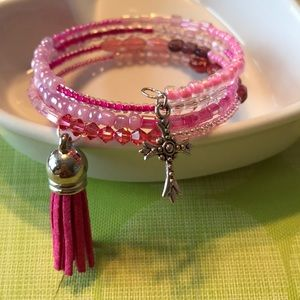 Jewelry - Shades of pink handmade coil bracelet